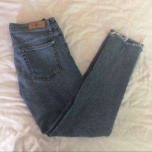 7 For All Mankind Roxanne Ankle Skinny Jean Sz 27